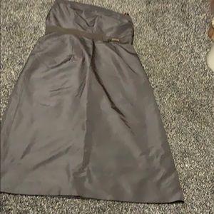 Jcrew brown tee length dress